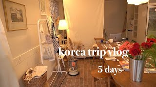 [vlog] ひとり韓国旅行 4泊5日 雑貨 カフェ 広い部屋 ソウル