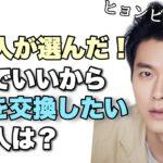 韓国人が「一度は人生を交換してみたいスターは?」ヒョンビンさすがです!!!