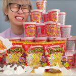 【大食い】韓国料理トッピングしたラーメンが美味MAX!!!【キムチ】【ブタメン】