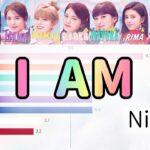 [NiziU] I AM | Bar chart race [Line Distribution]