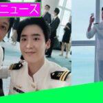 イ・ジョンソクは、俳優のキム・レウォンと「デシベル」の撮影セットの明るいセルカを共有し、海軍の制服を着てファンを失神させます