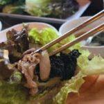 韓国料理と言えば一口で頬張って食べるのが暗黙のルールなのでみんなも練習してきてね【モッパン】